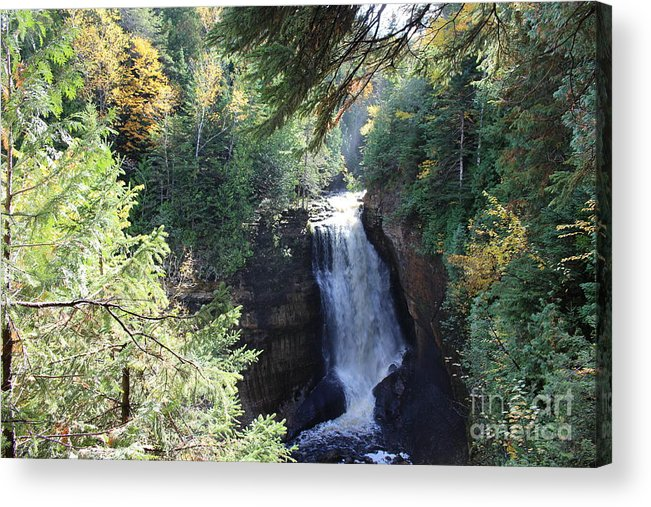 Water Acrylic Print featuring the photograph Waterfall by Brenda Ackerman