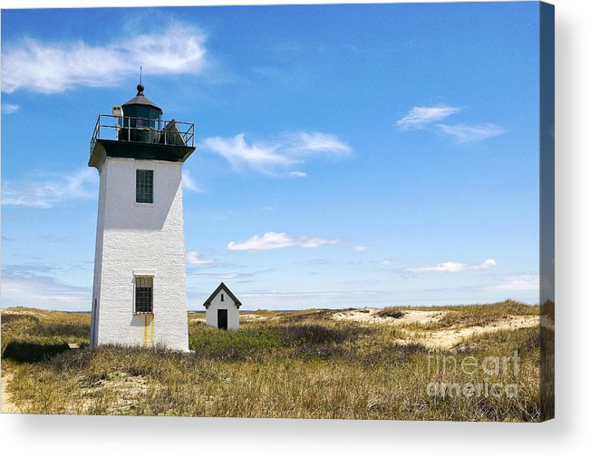 Lighthouses Acrylic Print featuring the photograph Wood End Lighthouse In Provincetown On Cape Cod Massachusetts by Matt Suess