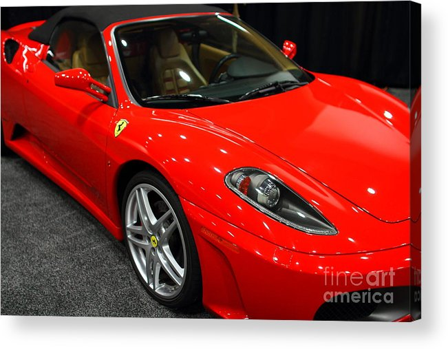 Transportation Acrylic Print featuring the photograph 2006 Ferrari F430 Spider . 7d9385 by Wingsdomain Art and Photography