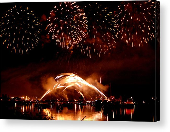 Fireworks Acrylic Print featuring the photograph 2008 Fireworks 4 by Jennifer Englehardt