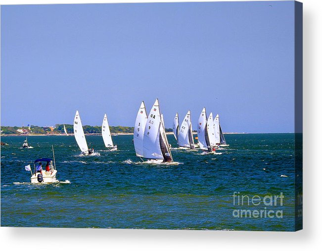 E-scows Acrylic Print featuring the photograph 2017 National E-scow Championship by Scott Cameron