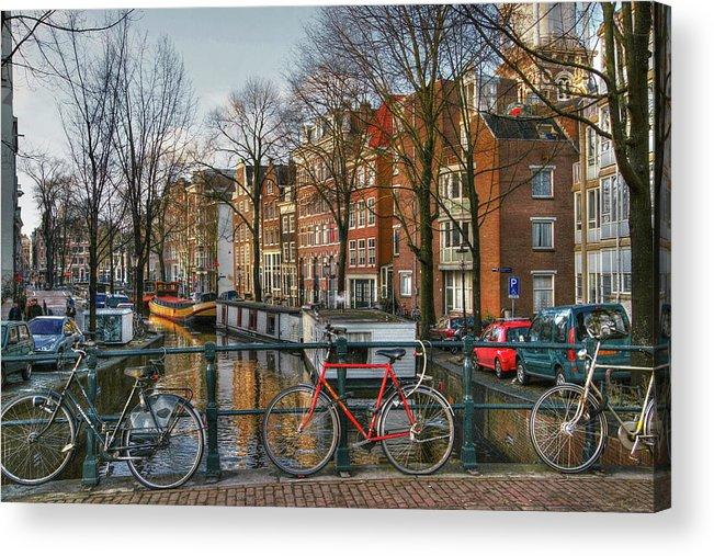 Amsterdam Acrylic Print featuring the digital art 274 Amsterdam by Mark Brooks