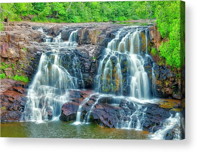 Americas Acrylic Print featuring the photograph Early Morning At The Upper Falls by Roderick Bley