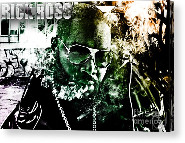 Rick Ross Acrylic Print featuring the digital art Rick Ross by The DigArtisT