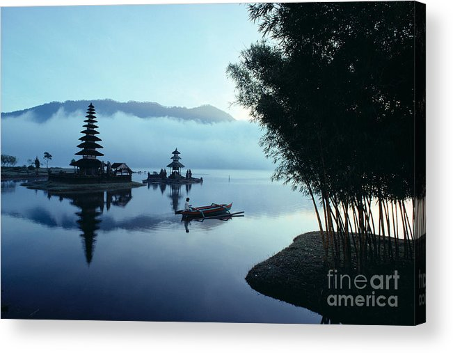 Bratan Acrylic Print featuring the photograph Ulu Danu Temple by William Waterfall - Printscapes