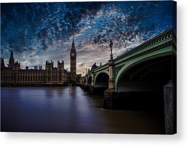 Westminster Acrylic Print featuring the photograph Westminster Bridge by Martin Newman