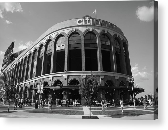 Arch Acrylic Print featuring the photograph Citi Field - New York Mets by Frank Romeo