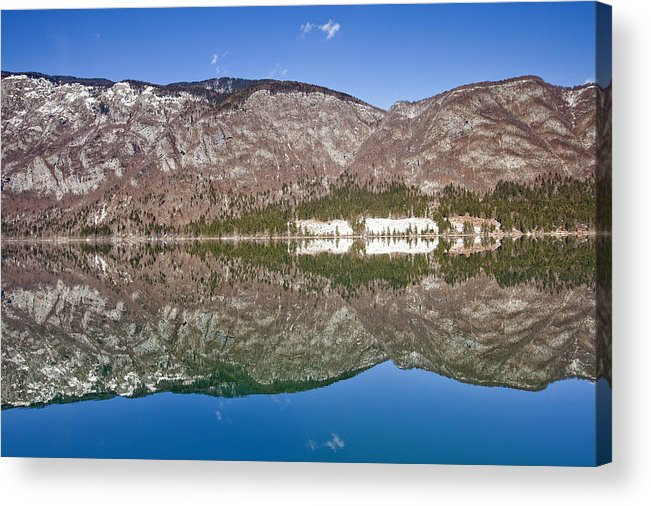 Alpine Acrylic Print featuring the photograph Lake Bohinj by Andre Goncalves