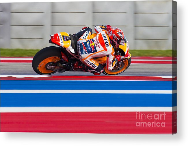 Marc Acrylic Print featuring the photograph Marc Marquez by Ara Ashjian