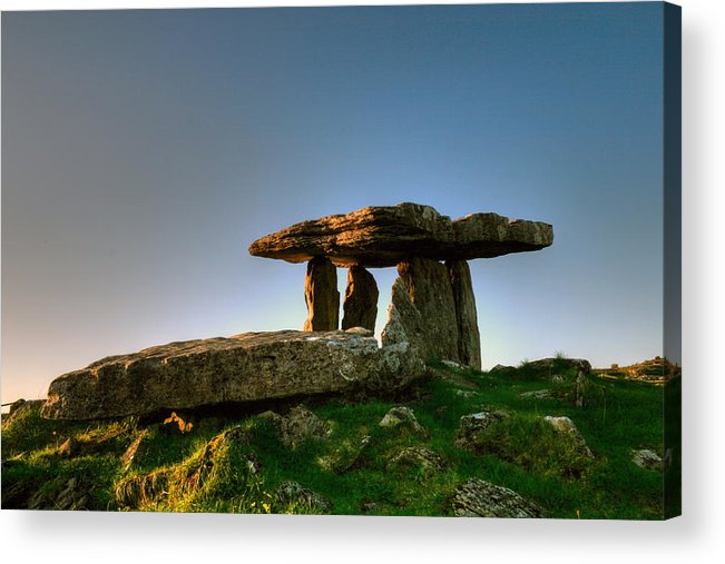 Poulnabrone Acrylic Print featuring the photograph Poulnabrone Dolmen by John Quinn