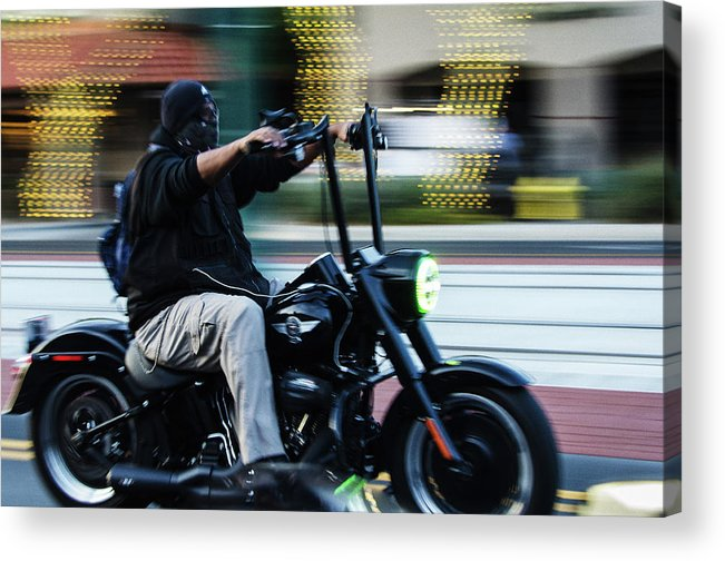Motorcycles Acrylic Print featuring the photograph Bike Night by Marit Runyon