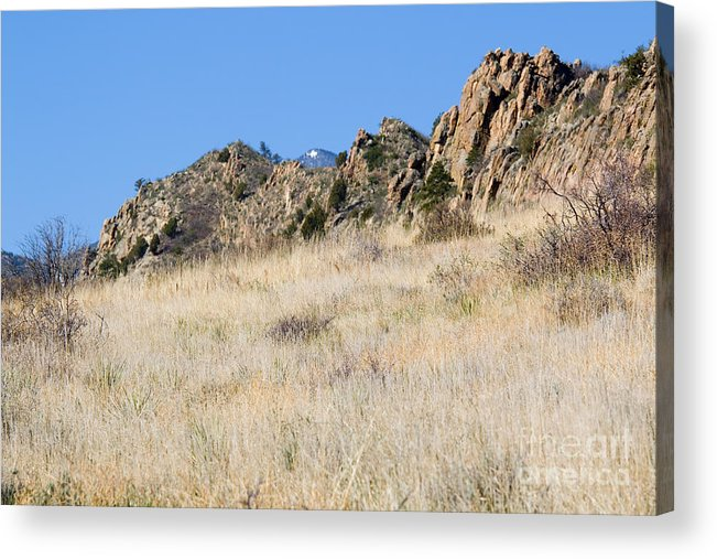 Red Rock Acrylic Print featuring the photograph Red Rock Canyon Open Space Park by Steve Krull