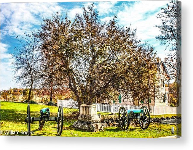 Acrylic Print featuring the photograph Trostle Farm by William Rogers