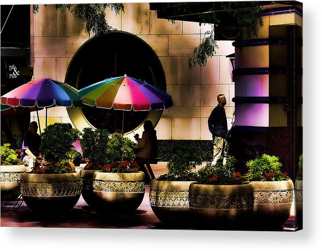 Hdr Acrylic Print featuring the photograph 5th And Pine by David Patterson