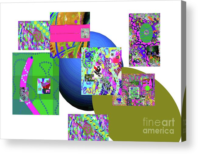 Walter Paul Bebirian Acrylic Print featuring the digital art 6-20-2015gab by Walter Paul Bebirian