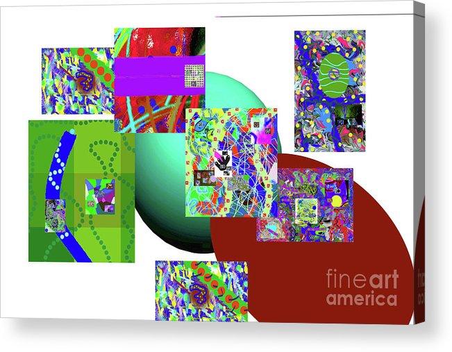 Walter Paul Bebirian Acrylic Print featuring the digital art 6-20-2015gabcdefg by Walter Paul Bebirian