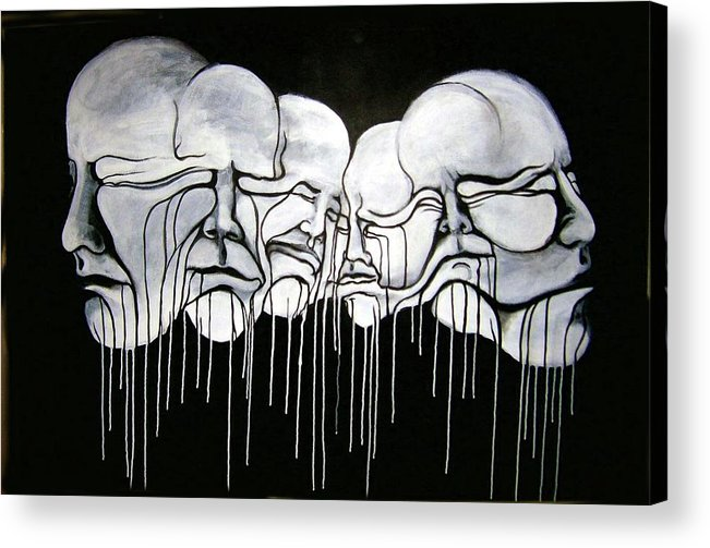 Faces Acrylic Print featuring the painting 6 Faces by Stephen Barry