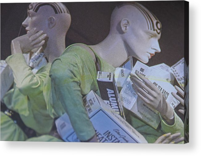 Shopping Windows Acrylic Print featuring the photograph Mannequin-dolls by Marit Runyon