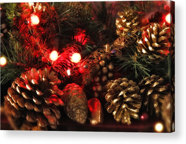 Christmas Acrylic Print featuring the photograph Christmas Tree Decorations by Mal Bray