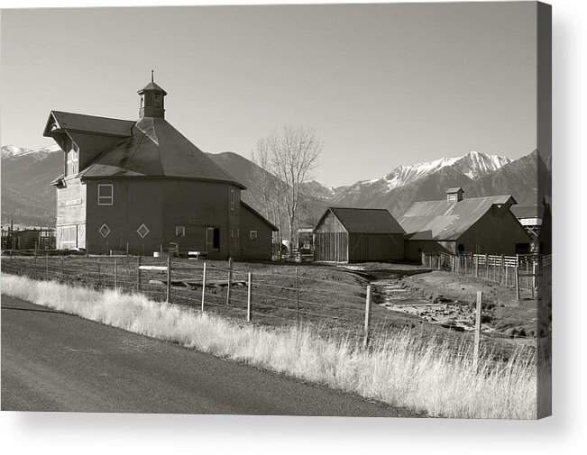 Acrylic Print featuring the photograph 8-sided Barn by Stephen Ingham
