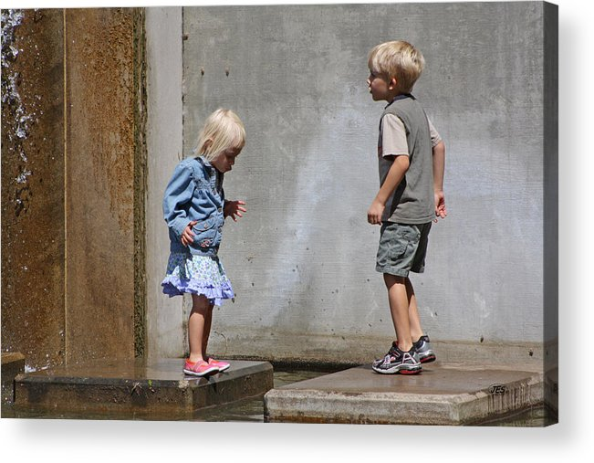 People Acrylic Print featuring the photograph 9 4 10 0032 by Jim Simms