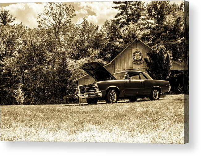 Classic Acrylic Print featuring the photograph Classic Cars by Mickie Bettez