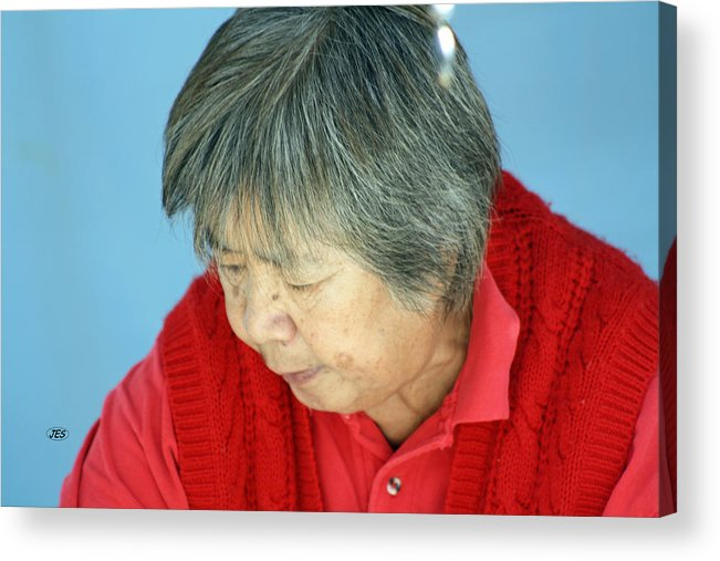 People Acrylic Print featuring the photograph 9740 by Jim Simms