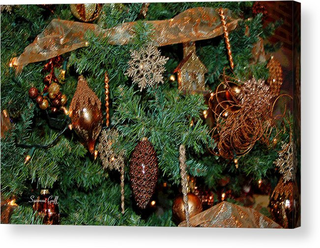 Christmas Acrylic Print featuring the photograph A Bronze Christmas by Suzanne Gaff