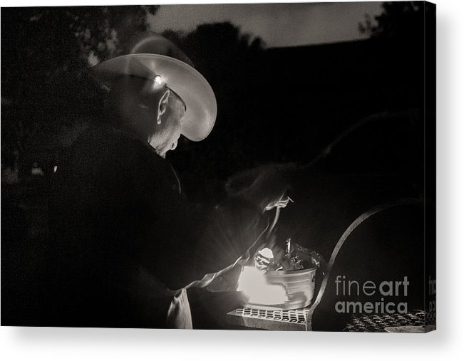 Bbq Acrylic Print featuring the photograph A Cowboys Dinner by Sherry Davis