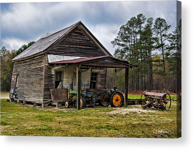 Barn Acrylic Print featuring the photograph A Crooked Little Barn by Christopher Holmes