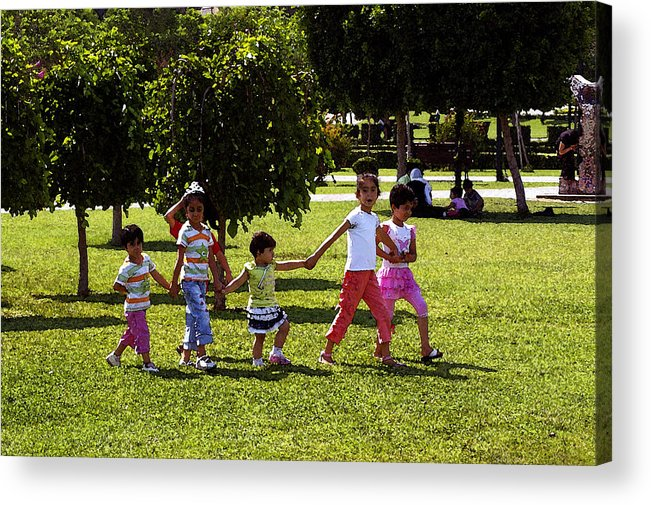 Child Acrylic Print featuring the digital art A Day In The Park by Don Prioleau