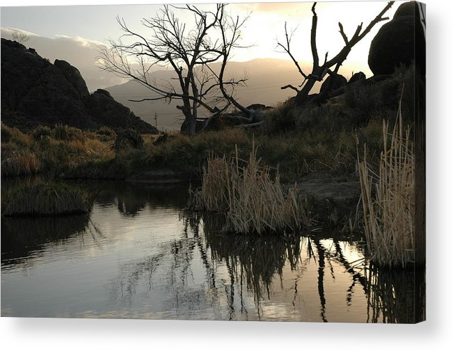 Landscape Acrylic Print featuring the photograph A Days End by Lori Mellen-Pagliaro