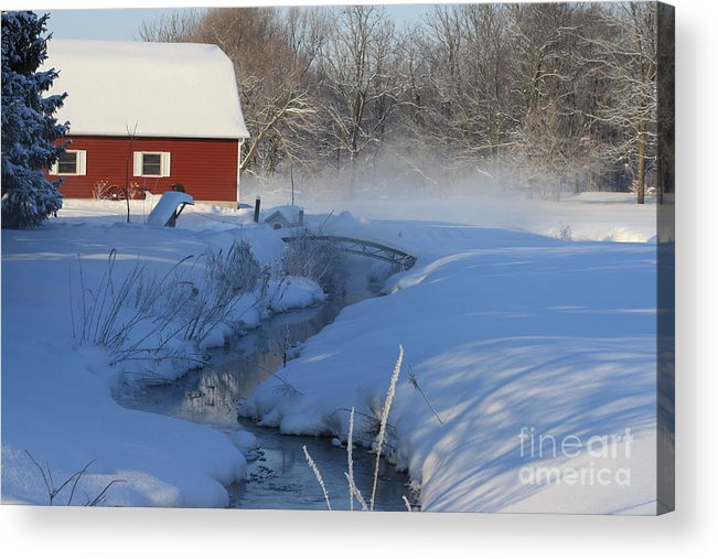 Winter Acrylic Print featuring the digital art A Little Slice by Cathy Beharriell