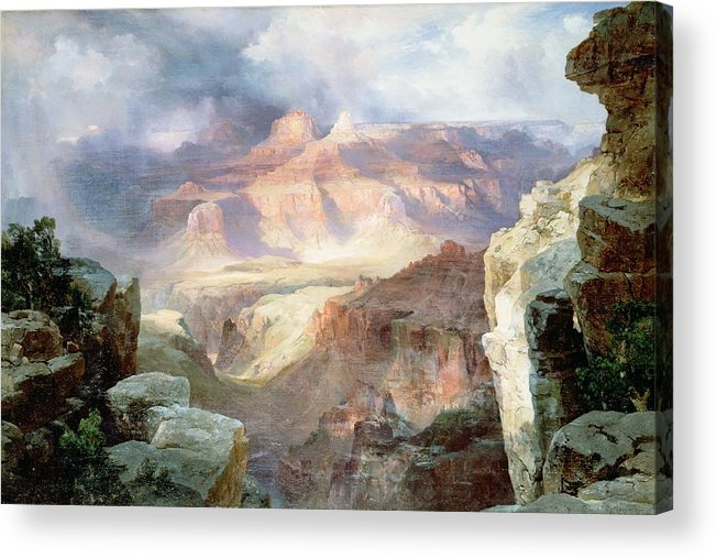 A Miracle Of Nature Acrylic Print featuring the painting A Miracle Of Nature by Thomas Moran