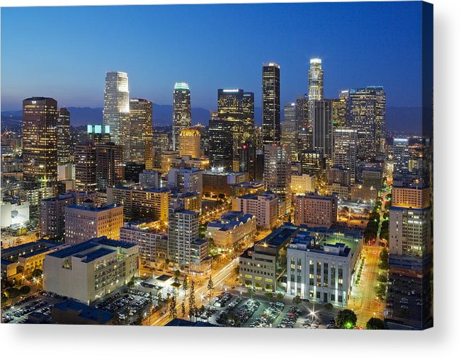 Los Angeles Acrylic Print featuring the photograph A Night In L A by Kelley King