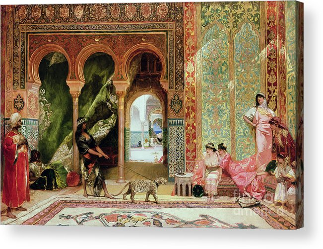 Royal Acrylic Print featuring the painting A Royal Palace In Morocco by Benjamin Jean Joseph Constant