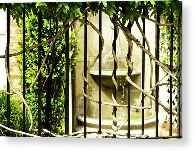 Photo Acrylic Print featuring the photograph A Small Fountain by Alan Hausenflock