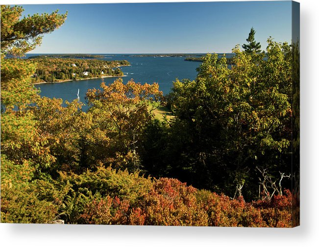 acadia National Park Acrylic Print featuring the photograph A View From The Top by Paul Mangold