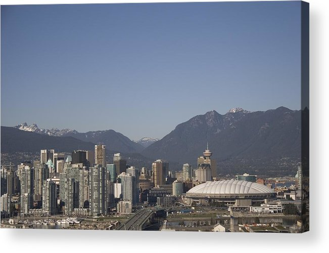 Scenes And Views Acrylic Print featuring the photograph A View Of The Skyline Of Vancouver, Bc by Taylor S. Kennedy