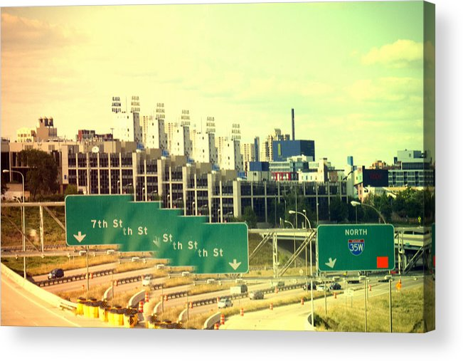 Mpls. Car Acrylic Print featuring the photograph A Vision Of Minneapolis by Susan Stone