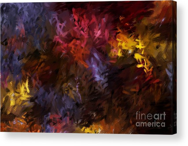 Abstract Acrylic Print featuring the digital art Abstract 5-23-09 by David Lane