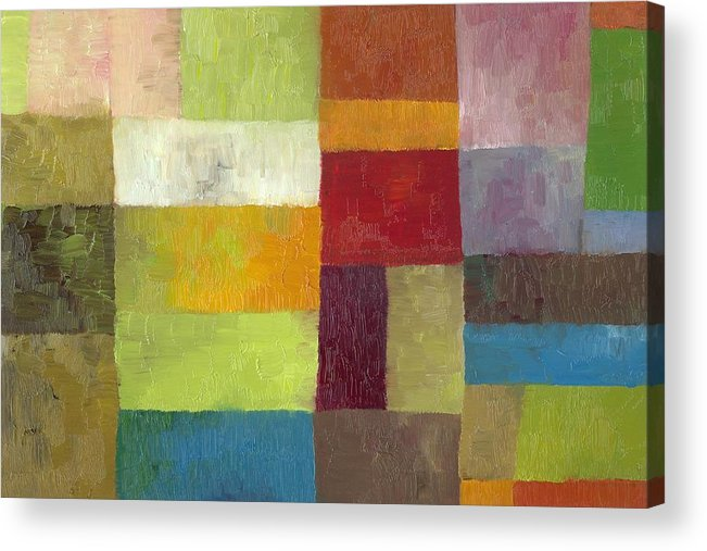 Abstract Acrylic Print featuring the painting Abstract Color Study Lv by Michelle Calkins