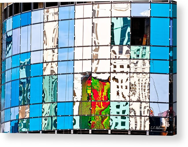 Building Acrylic Print featuring the photograph Abstract In The Windows by Christopher Holmes