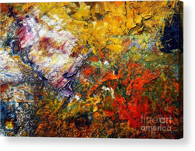 Abstract Acrylic Print featuring the painting Abstract by Michal Boubin