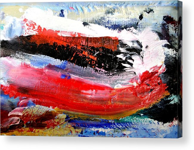Abstract Acrylic Print featuring the painting Abstraktes Bild 25 by Eckhard Besuden