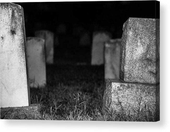 Cemetery Acrylic Print featuring the photograph Abyss by Scarlet Starr