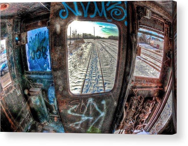 Toledo Acrylic Print featuring the photograph Across The Tracks by Joshua Ball