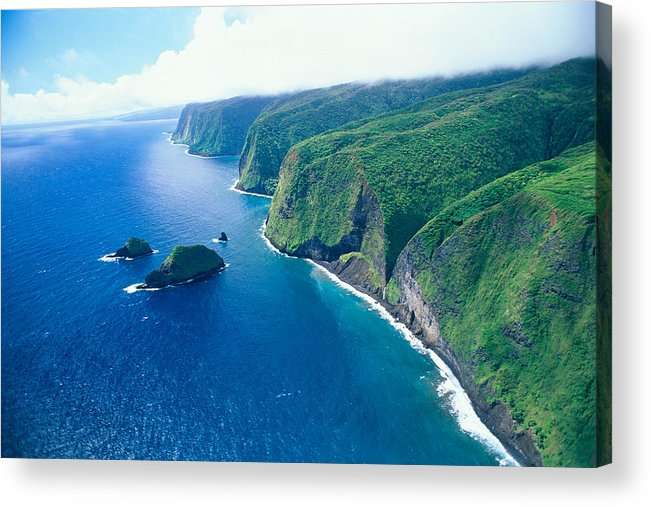 Aerial Acrylic Print featuring the photograph Aerial Of North Shore by Peter French - Printscapes