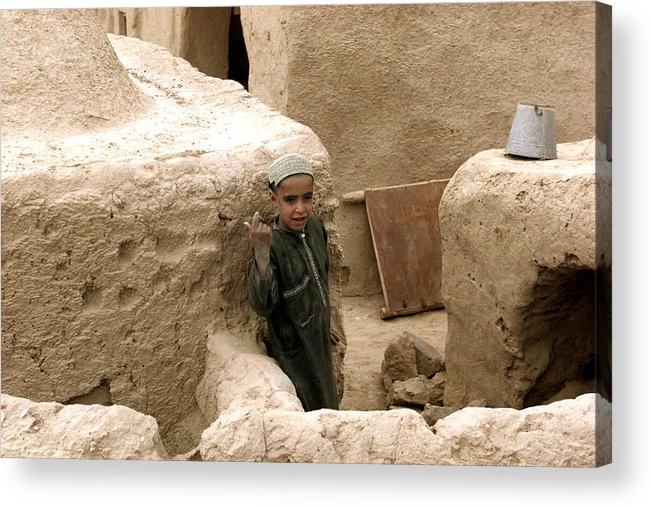 Afghanistan Acrylic Print featuring the photograph Afghan Child by Thomas Michael Corcoran