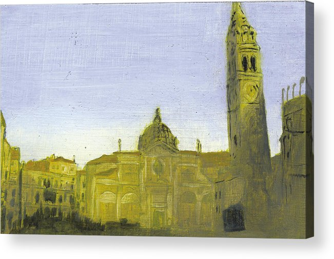 Landscape Acrylic Print featuring the painting After Campo Santa Maria Formosa by Hyper - Canaletto